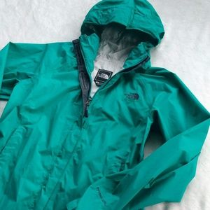 North Face hyvent 2.5l rain jacket turquoise teal